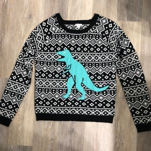 Sweaters - Knitted T-Rex Holiday Sweater